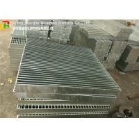 Buy cheap Full Welded Galvanized Steel Walkway Grating Anti - Corrosive For Building from wholesalers
