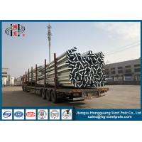 China Polygonal Transmission Steel Pole / Steel Power Pole For Overhead Transmission Line on sale