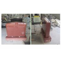 Quality Red Polished Sketch Granite Memorial Headstones 37.6Mpa Bending Strength wholesale