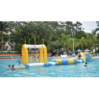 0.9mm PVC Tarpaulin Fabric Inflatable Floating Water Park For 18m*6m Pool