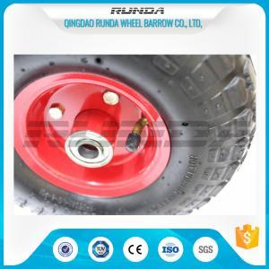 China Inner Tube Pneumatic Rubber Wheels Bent Valves Offset Hub Length 19/20mm Bearomg on sale