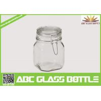 Quality Popular clear swing top glass jar wholesale