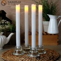Quality Remote Control Taper Candles , Flameless Taper Candles With Timer wholesale