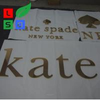 China Outdoor Led Letter Sign With Golden Polished Non - Illuminated Letter on sale
