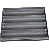 China Teflon Coated Bread Baking Tray , Stainless Steel Baguette / Hot Dog / Muffin Trays on sale