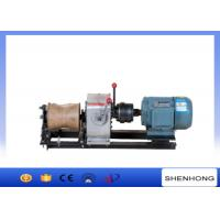Quality 10KN Electric Engine Cable Powered Pulling Winch By Shafted Driven wholesale