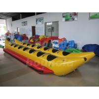 Quality PVC Tarpaulin Kids Inflatable Banana Boat / Double Tube Water Banana Boat wholesale