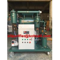 China Portable transformer vacuum oil purifier insulating oil treatment machine used oil filter single stage high efficiency on sale