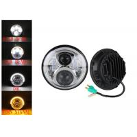 Cheap 60W LED Headlights For Jeep Wrangler 7 Inch With Hi - Lo Beam Round for sale