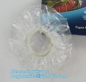 China Custom logo bathroom products disposable plastic shower cap,customized plastic PE hotel disposable shower cap bagplastic on sale