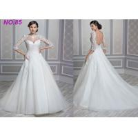 Quality Stunning Ivory Women's  Princess Bride Wedding Dress With Long Sleeves And Train wholesale