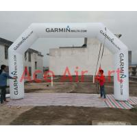 Quality beautiful 6m x 3.3 m white inflatable sports arch for malta come with air blower wholesale
