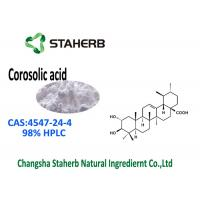 China Triterpenoid Compound Banaba Leaf Extract CAS 4547-24-4 Corosolic Acid 98% HPLC on sale