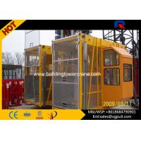 Cheap 2*2000Kg Load Construction Hoist Elevator 50m Height  For Projects for sale