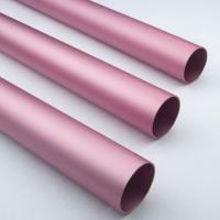 Quality Pink Anodized / Oxidation Round Aluminium Tube Oxidation Film Above 10 Um wholesale