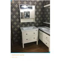 Quality White Square Traditional Bathroom Vanities With Waste Drain 80cm wholesale