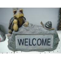 Quality Polyester Epoxy Resin Crafts Decorative Statue Sculpture of Tortoise on Rock wholesale