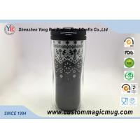 Quality Double Wall Eco Friendly Travel Mugs , Plastic Coffee Cups With Lids 350ml 12oz wholesale