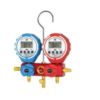China IP66 Digital Aluminum R134A R410A Manifold Gauge Set Air Conditioner Tools Kit on sale