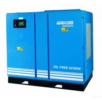 China Adekom Oil Free Rotary Screw Air Compressor on sale