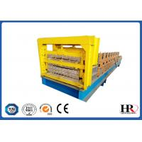 Buy cheap metal roofing sheet wall panel three layer roll forming machine from wholesalers