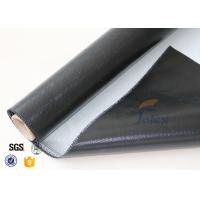 Quality 0.5mm 3732 Black Silicone Rubber Coated Fiberglass Cloth For Fabric Expansion Joint wholesale