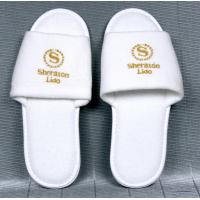 China Open or close Toe Hotel Amenities cotton, waffle and non wove fabric Hotel Slipper on sale