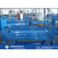 Buy cheap Size Customized Foldable Metal Box Heavy Duty Metal Pallet Cage For Warehouse from wholesalers