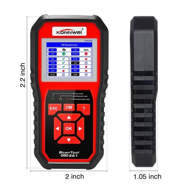 Cheap ABS Housing Automotive Diagnostic Tool Konnwei Kw850 Bosch Autel Launch Ancel Obd2 for sale