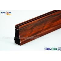 Quality Structural AA6063 T5 Window Aluminium Frame Wood Grain Surface wholesale