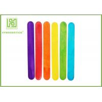Quality Eco - Friendly Blue / Red Craft Lollipop Sticks Handcraft Toys For Child Training wholesale