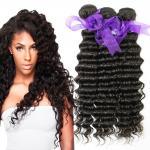Quality Peruvian Deep Wave HairBundles No Shedding , Peruvian Hair Deep Body Wave wholesale