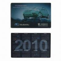 Quality 3D Lenticular Calendar Card with 3D or 2D Graphic Effect, OEM Services are Provided wholesale