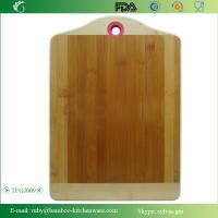 Quality TFGJ009/ Kitchenware Family Bamboo Wooden Chopping Butcher Block with Color Silicone Ring wholesale