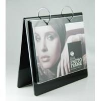 Quality acrylic photo frame keychain black calender style wholesale