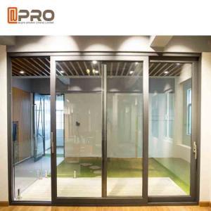 Slim Frame Aluminium Sliding Doors , Soundproof Interior Sliding Glass Doors
