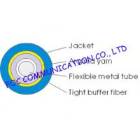 Quality Single Mode Simplex 2.0mm Optical Fiber Cable , Ftth / Lan outdoor Armored Fiber Optic Cable wholesale