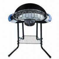 China Smoke-free Electric Barbecue Grill with Four Support Legs and Wind Shell on sale