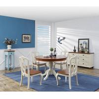 Quality Mediterranean Style Dining room Furniture by wood table and chairs with Buffet Cabinet in white/blue painting wholesale