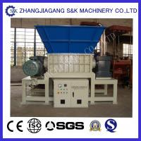 Quality Rubber Tire Waste Recycling Equipment Double Shaft Shredder CE / ISO wholesale
