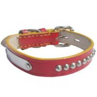 Quality adjustable cow leather pet collar wholesale