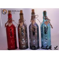Quality Electroplate Finish Wine Bottle Led Lights With Paint Color / Words wholesale