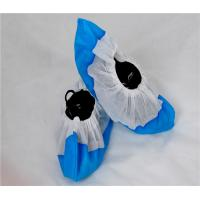 Cheap Water Resistant Disposable Shoe Covers Anti Slip Cpe Film Coated Pp Material for sale