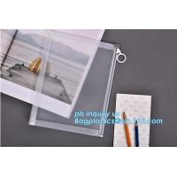 Quality Custom transparent pp slider bag with air hole, writable zip lock bags with white panel, slider bags with zipper lock wholesale