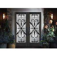 Quality Traditional Custom Spray Coating Wrought Iron Glass With Hot Dipfabricated wholesale