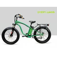 China 9 Speed 26 X 4.9 Tire Electric Beach Cruiser Bicycle With Rear Carrier Lights MTB Suspension Fork on sale