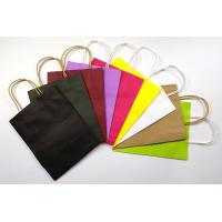 Quality Recyclable Customized Kraft Paper Shopping Bags Small Size With Handles wholesale