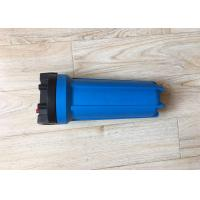 """Quality 10 Inch Single """"O"""" Ring Blue Water Filtration Housing With Air Release Button wholesale"""