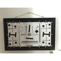 Quality iso 12233 2000 lines cctv camera test chart resolution test chart on paper and glass (chrome print) 200mm*356mm 16:9 wholesale