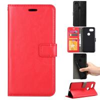 Quality Google Pixel2 Crazy Horse Cell Phone Leather Wallet Case Three Card Slot Tpu Soft Back Cover wholesale